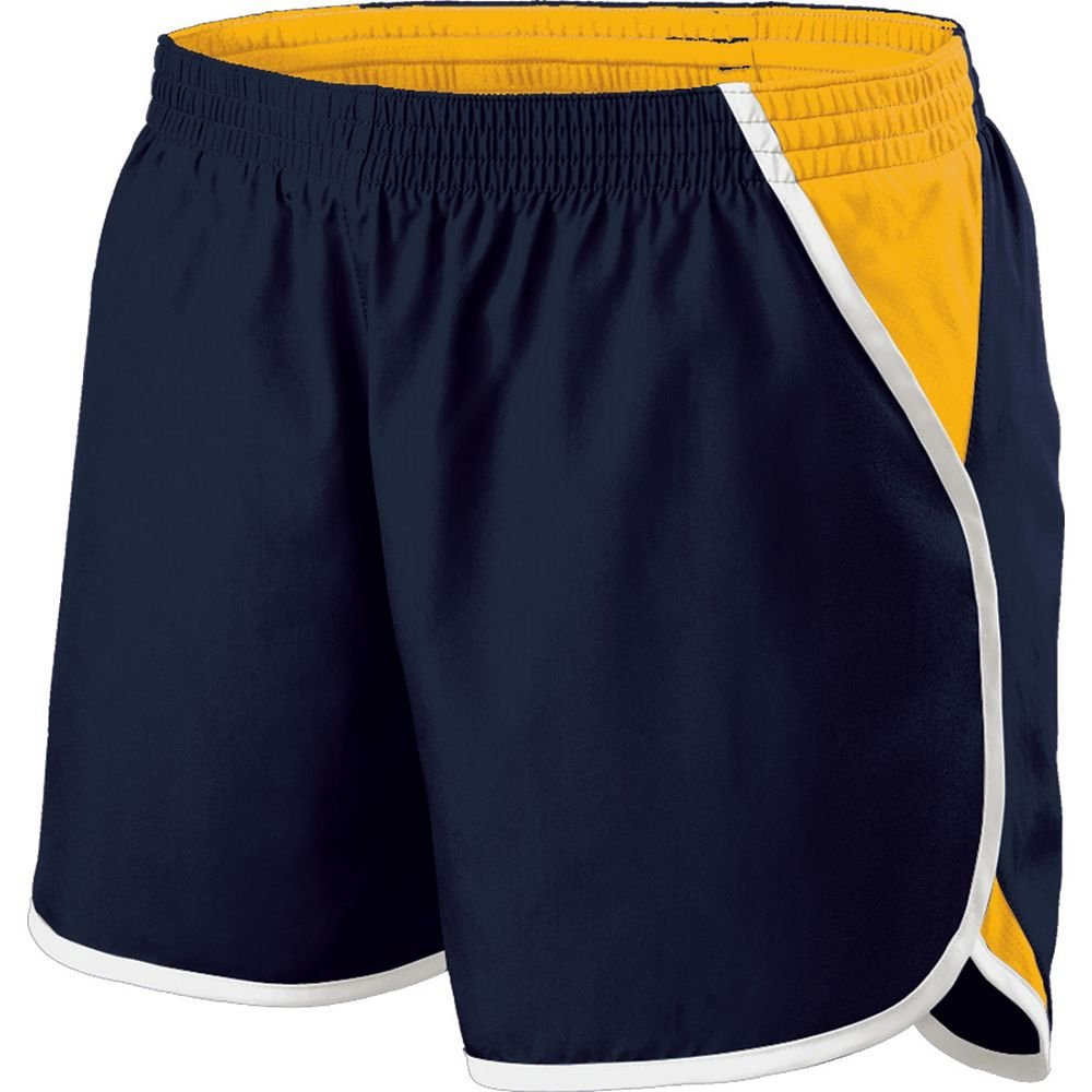 Holloway Sportswear Girls Energize Shorts. 229425 Navy / Light Gold / White XL