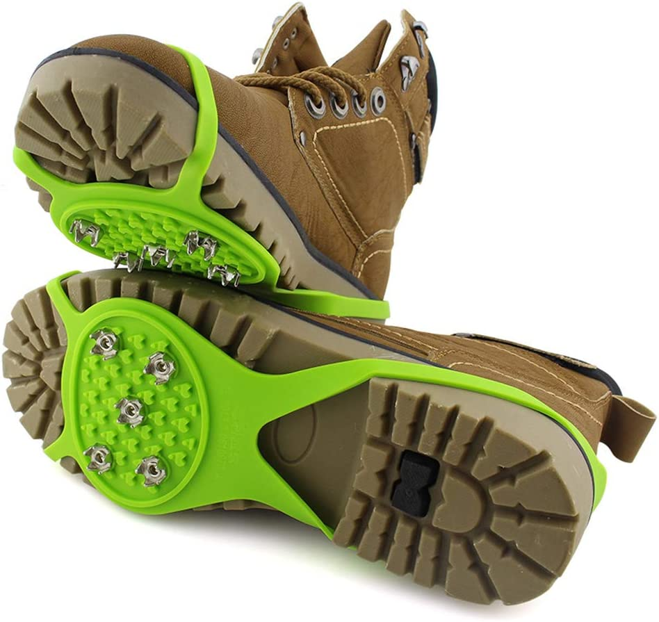 PETSOLA Crampons /à Neige pour Couvre-Chaussures en Silicone /élastique 5 Dents