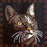 DIY Mosaic Art Kit 7'' Square, 20x20cm, Cat