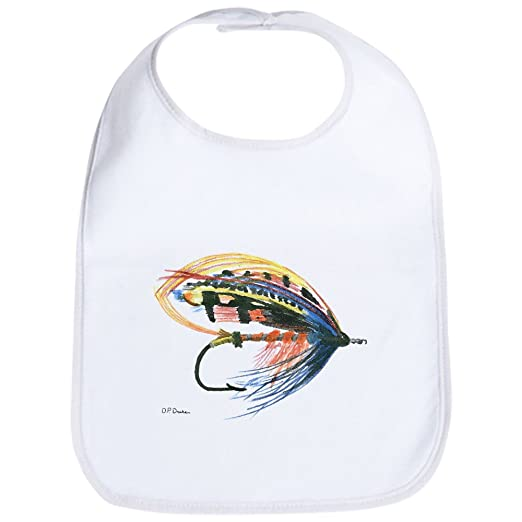 b63d34247de Amazon.com  CafePress - Fishing Lure Art Bib - Cute Cloth Baby Bib ...