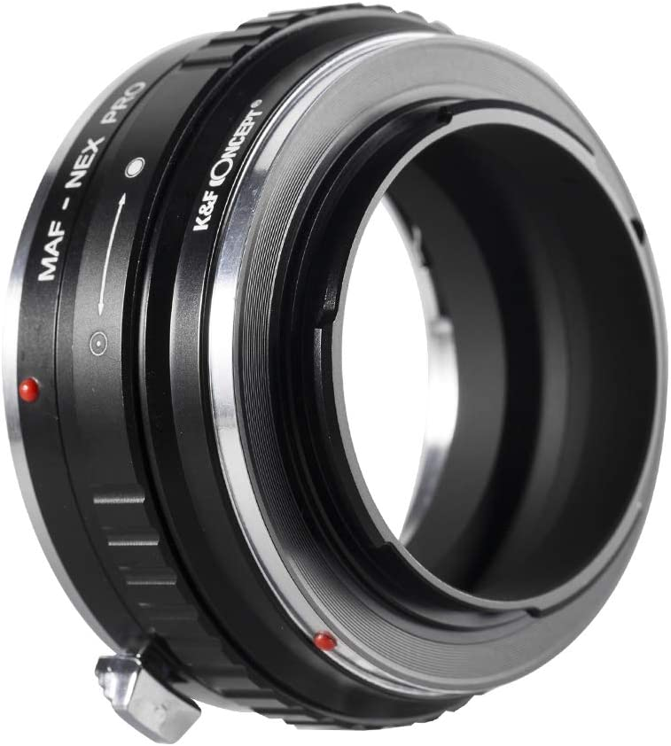 K/&F Concept Lens Mount Adapter for Sony Alpha A-Mount and Minolta AF A-Type MAF Mount Lens to Sony E Mount NEX Camera with Reflective Paint