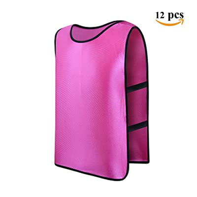 Feamos Sports Training Vest Pinnies for Soccer Football Adults 12Pcs