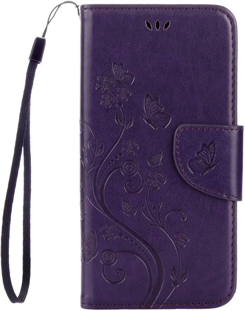 ZENGMING Tablet PC Case Cover for Lenovo Vibe K5 Butterflies Love Flowers Embossing Horizontal Flip Leather Case with Holder & Card Slots & Wallet & Lanyard(Black) (Color : Color2)
