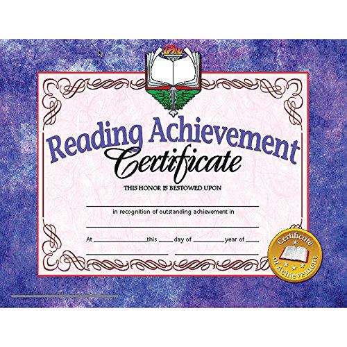 - Reading Achievement Certificate