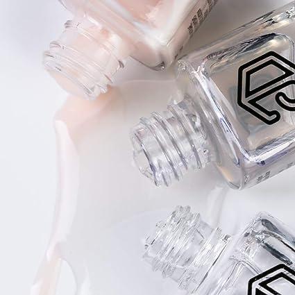 Jolly Dim Makeup - Set de esmalte de uñas French (pack de 3). Top Coat. Base de tratamiento de uñas. Esmalte de uñas Crepe 2: Amazon.es: Belleza