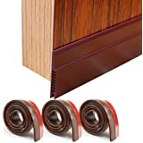 "HORLIMER 3 Pack Door Draft Stoppers Brown Under Door Sweep Seal Strip for Interior & Exterior Doors, 1.8"" W x 39.3"" L…"
