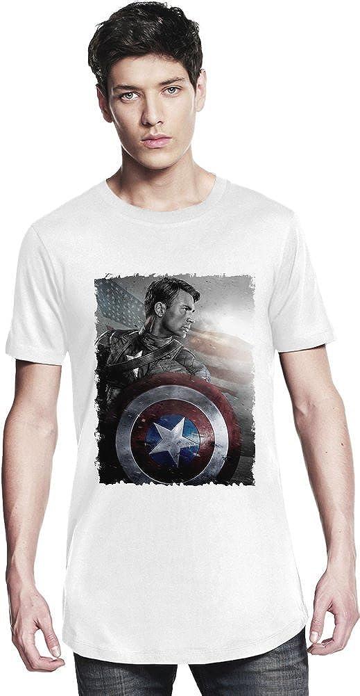 Chris Evans Captain America Camiseta larga X-Large: Amazon.es ...