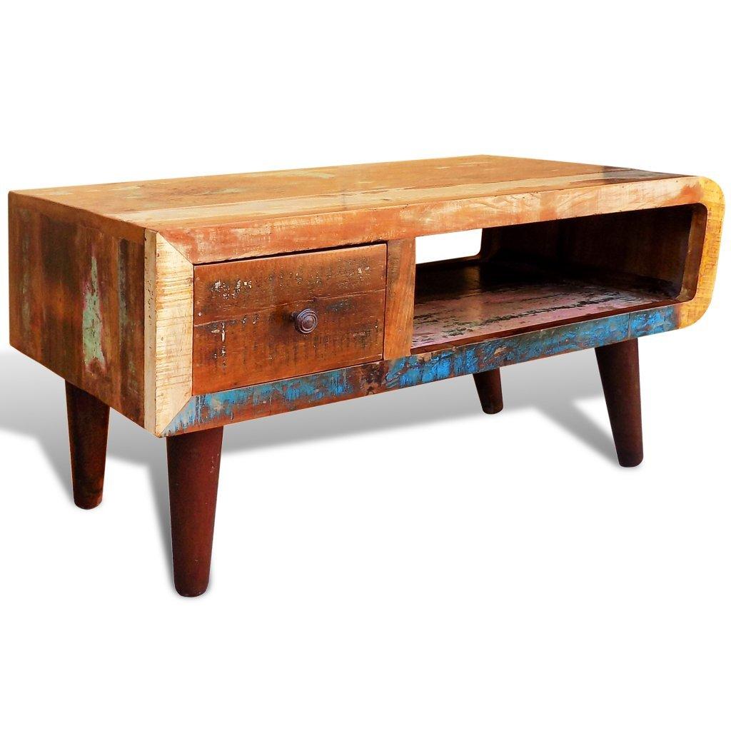 vidaXL regenerado Home Muebles Vintage Madera Mesa de café ...