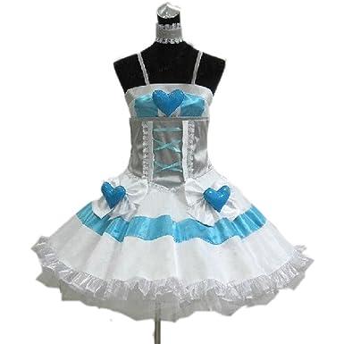 7791cba43c1 YuanCos Panty   Stocking with Garterbelt Stocking White Angel Dress Cosplay  Costume (Female ...