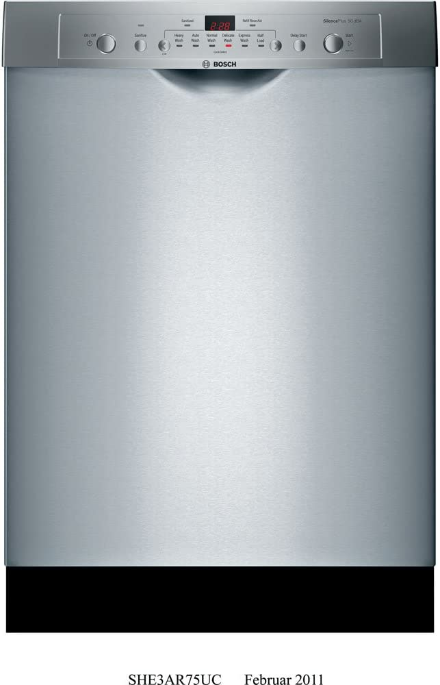 Bosch : SHE3AR75UC 24 Ascenta Series Full Console Dishwasher - Stainless Steel