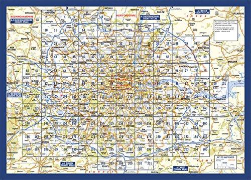 London Atlas Map.Master Atlas Of Greater London Amazon Co Uk Geographers A Z Map