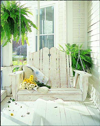 Uwharrie Chair Co N152-13-White-Dist-Pine Nantucket Swing, (Uwharrie Swing)