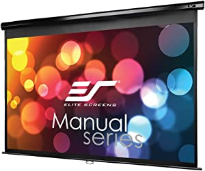 Elite Screens Manual Series, 80-INCH 16:9, Pull Down Manual Projector Screen with AUTO LOCK, Movie Home Theater 8K / 4K Ultra HD 3D Ready, 2-YEAR WARRANTY, M80UWH
