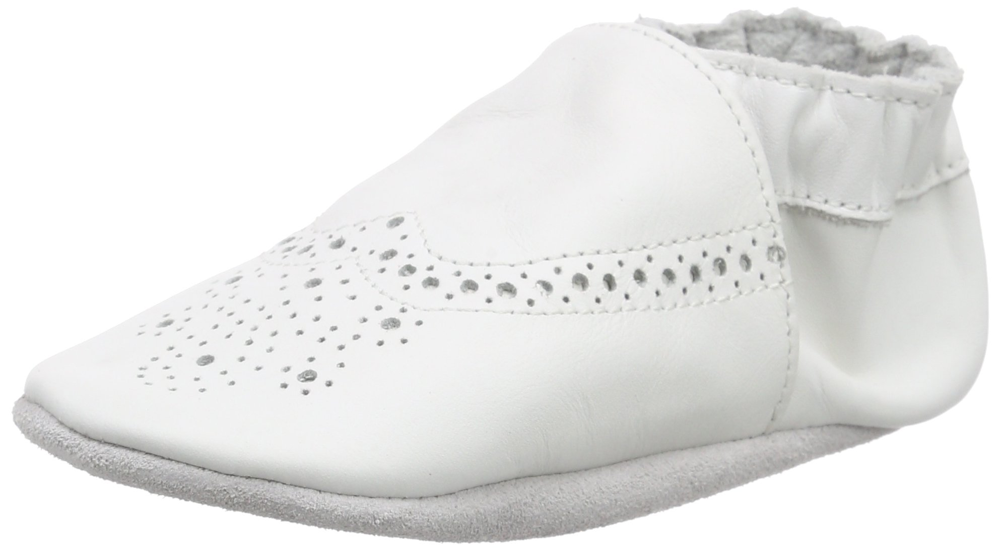 Robeez Smart Baby Boys Standing Baby Shoes White White 3