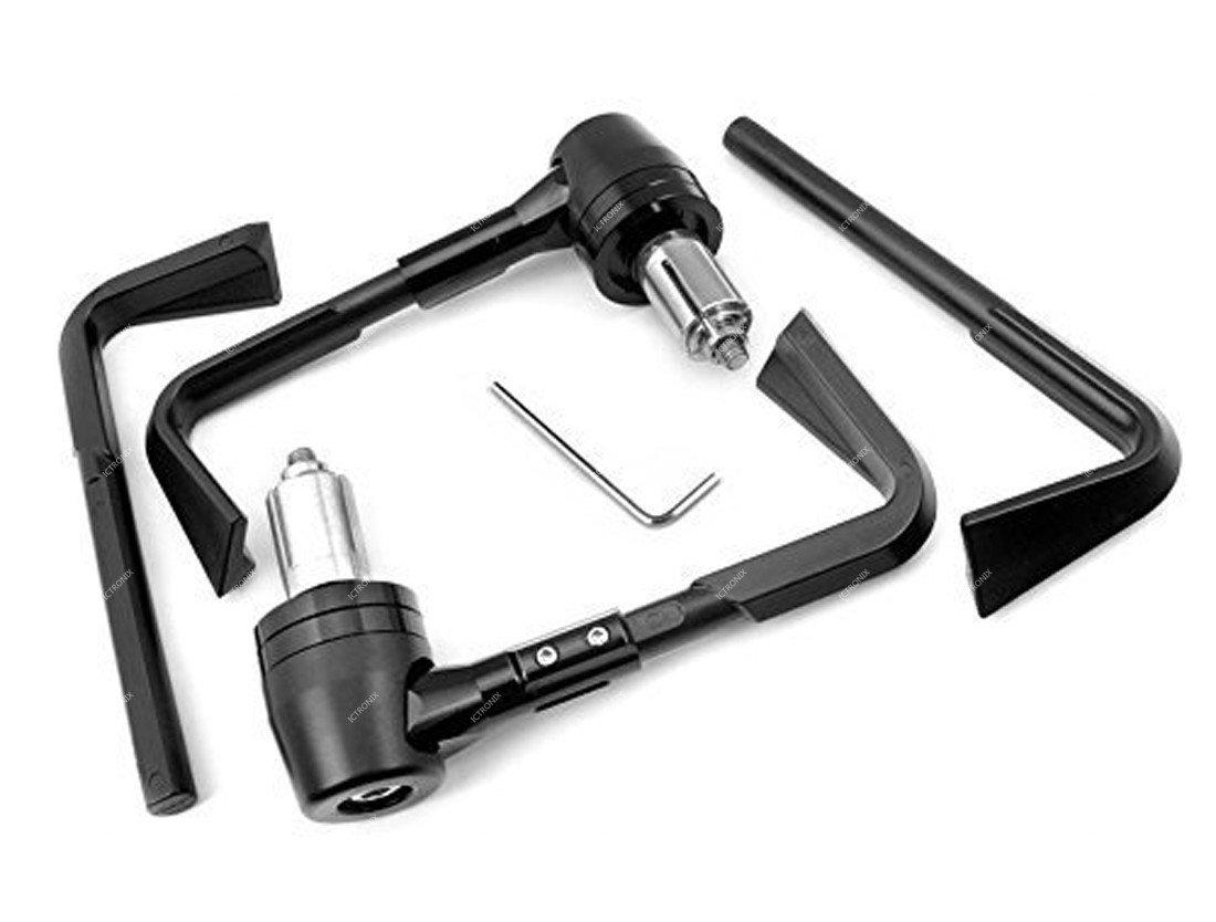 Pair Universel Protection de la Moto Levier de Frein Embrayage 7//8 22mm Prot/ège-mains pour Moto Guidon Protecteur noir