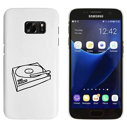 Blanco Tocadiscos Funda / Carcasa para Samsung Galaxy S7 ...