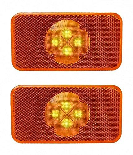 2 x Reflectores LED Side Marker luces especí fico para FH FM FL á mbar lá mparas OEM reemplazar 20398660 20798440 M621640