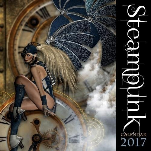 Steampunk 2017 - 12inch x 12inch Hanging Square Wall Photographic Planner Calendar By Flame Tree Publishing