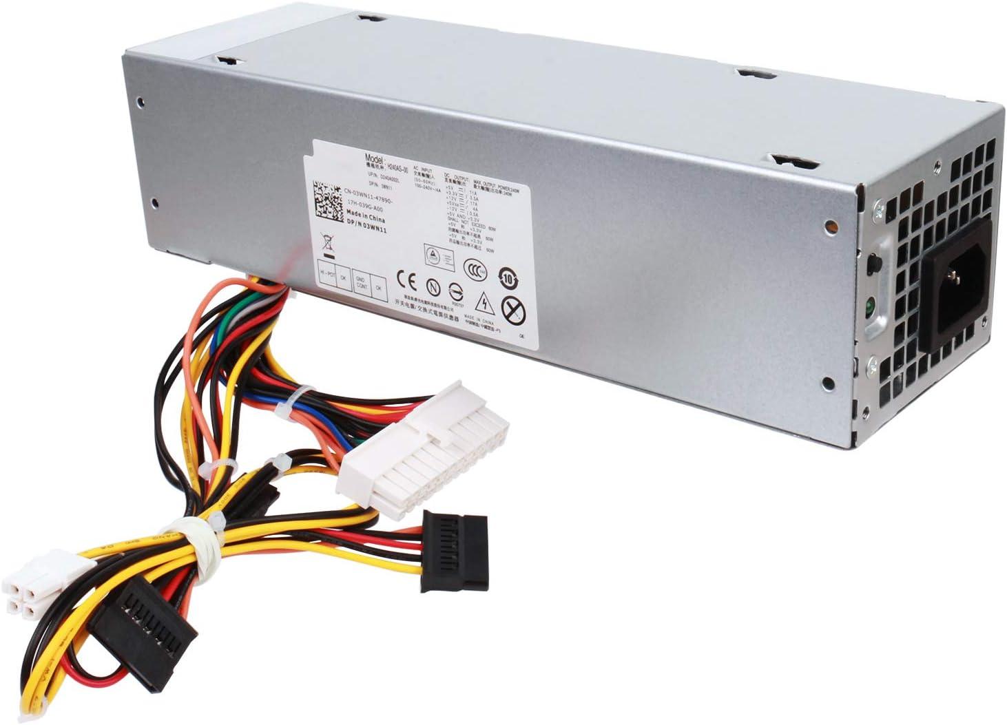 Alvar 240W Power Supply Unit for Dell OptiPlex 390 790 960 990 3010 9010 Small Form Factor System SFF H240AS-00 H240AS-01 H240ES-00 D240ES-00 AC240AS-00 AC240ES-00 L240AS-00 3WN11 PH3C2 2TXYM 709MT