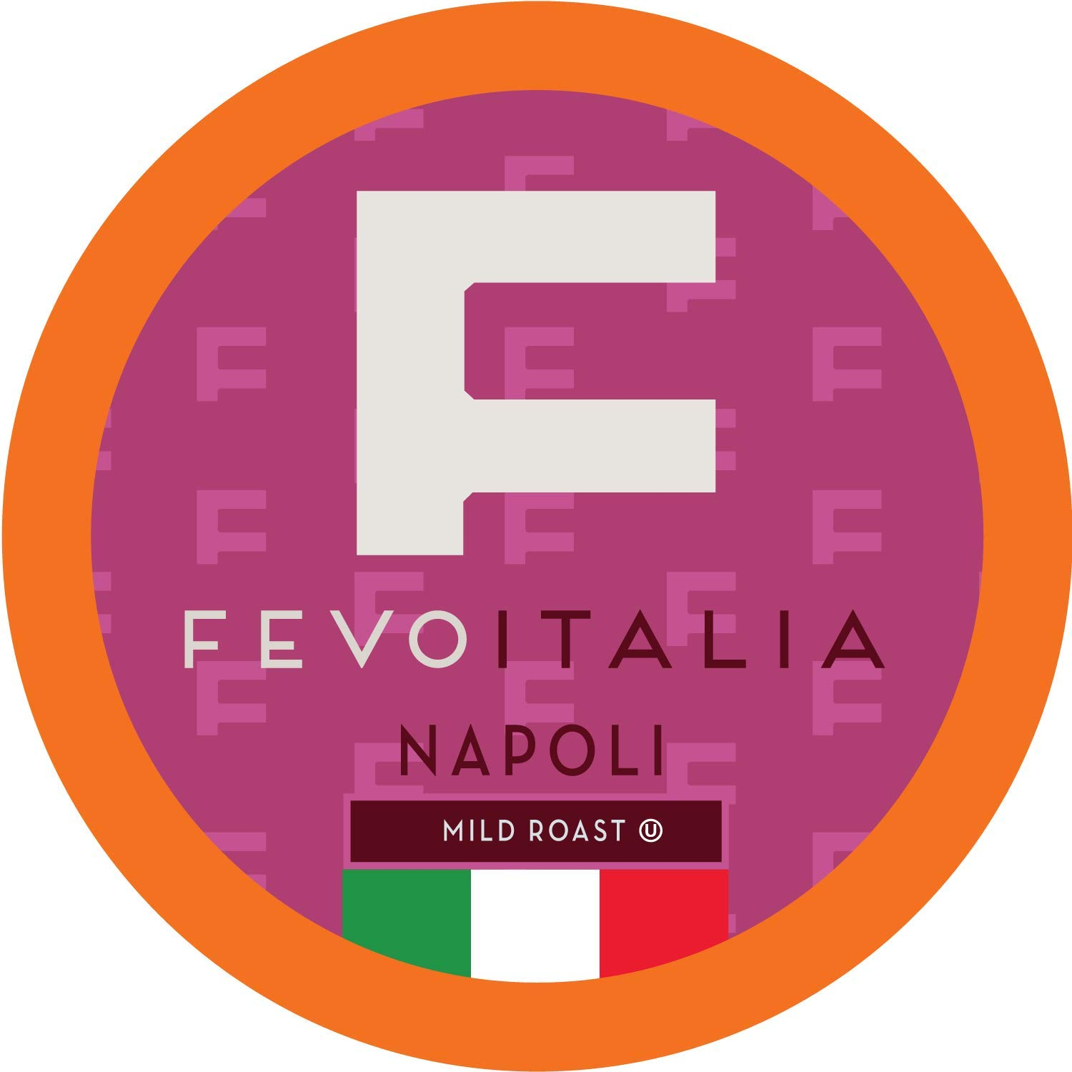 Fevo Italia Coffee Pods, Napoli, Compatible with 2.0 K-Cup Brewers, 40 Count