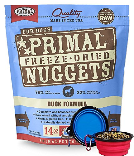 Primal Pet Food - Freeze Dried Dog Food 14-ounce Bag - Made in USA (Duck)