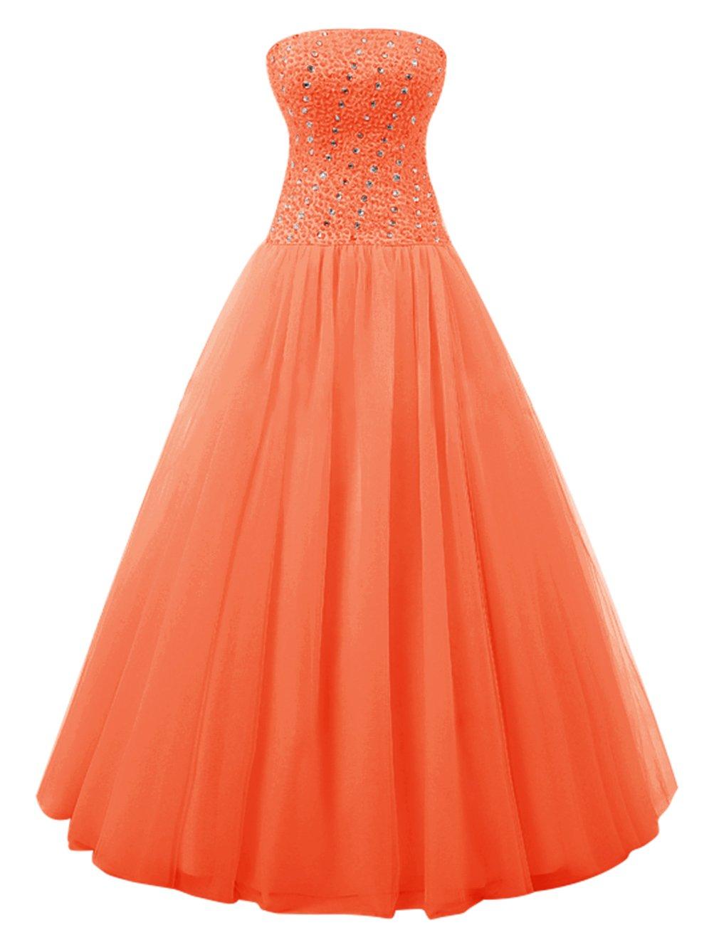 Dresstell(ドレステル) ふわふわ演奏会ドレス リボン ビジュー付き 編み上げ レディース B01KV70R6I JP29W|オレンジ オレンジ JP29W