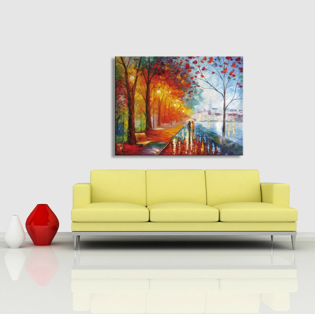 Amazon.com: Canvas Wall Art Palette Knife Abstract Modern Oil ...