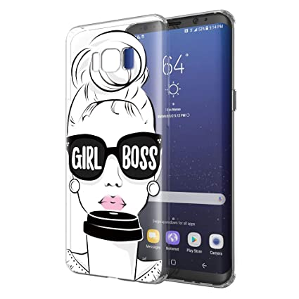 Amazon.com: Eouine Samsung Galaxy S8 Plus Funda, Suave TPU ...