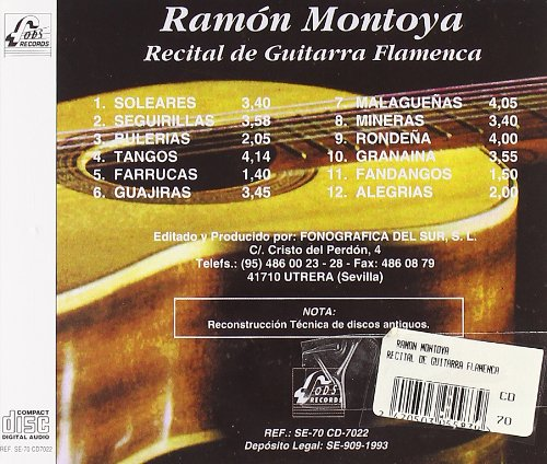 Recital De Guitarra Flamenca: Ramon Montoya: Amazon.es: Música