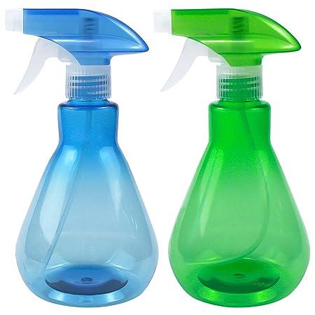 Disino 2 Piezas Botellas de Spray, Pulverizador Agua de Plástico Vacío 500ml, Botella de Spray para Plantas, Flores, Limpieza, Peluquería, Ambientador