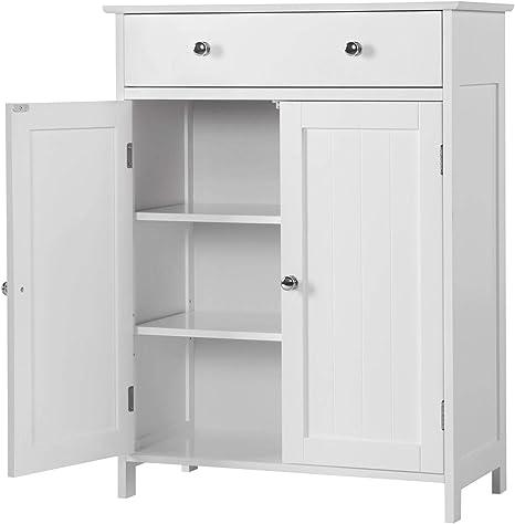 Yaheetech - Armario blanco de baño, mueble para ahorrar espacio en ...