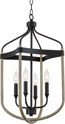 Kira Home Austen 25.5″ 4-Light Modern Farmhouse Lantern Pendant Light