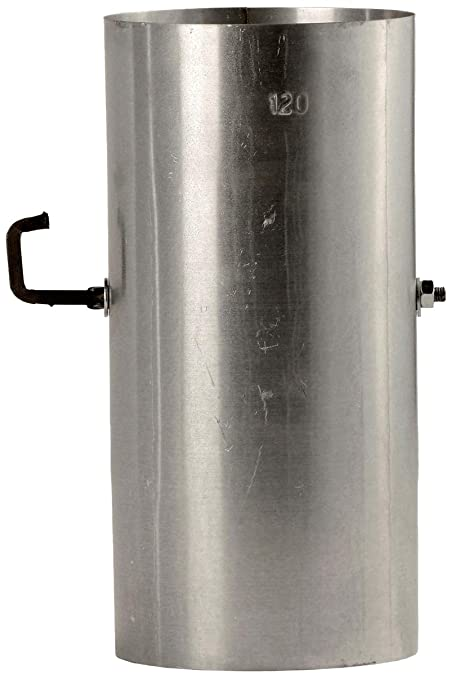 Bertrams 032010 Horno Tubo de 25 cm Con Válvula de estrangulación FAL – Chapa de acero