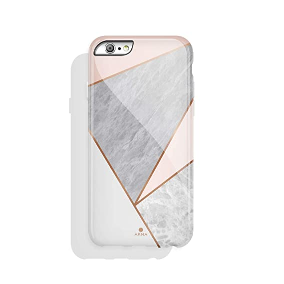 wholesale dealer 54c57 95dc6 iPhone 6/6s case Marble, Akna Collection High Impact Flexible Silicon Case  for Both iPhone 6 & iPhone 6s [Pink Marble Geometric] (920-US)