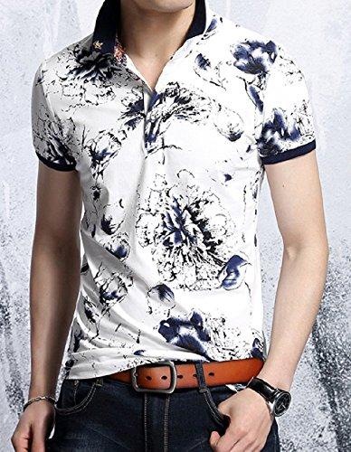 Heaven Days(ヘブンデイズ) ポロシャツ ゴルフシャツ 花柄 フラワー プリント 半袖 メンズ 1706G0671