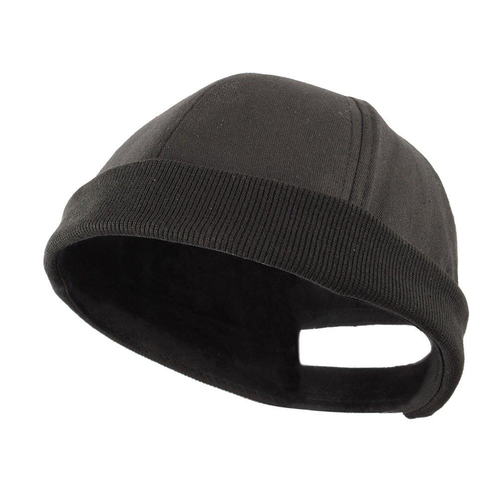 Shanghaipop Men Skullcap Sailor Cap Rolled Cuff Retro Fashion Brimless Hat  Black at Amazon Men s Clothing store  917114eb1ec2