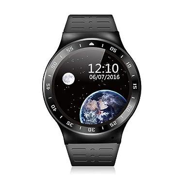 2017Nouvelle Smarts montre Android 5.1Bluetooth 4.0moniteur de fréquence cardiaque, podomètre, Google App Smart montre téléphone pour iOS Android