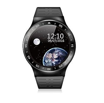 2017 nueva Smarts reloj monitor de ritmo cardíaco, podómetro, Google Android 5.1 Bluetooth 4.0 APP TELÉFONO reloj inteligente para ios android: Amazon.es: ...