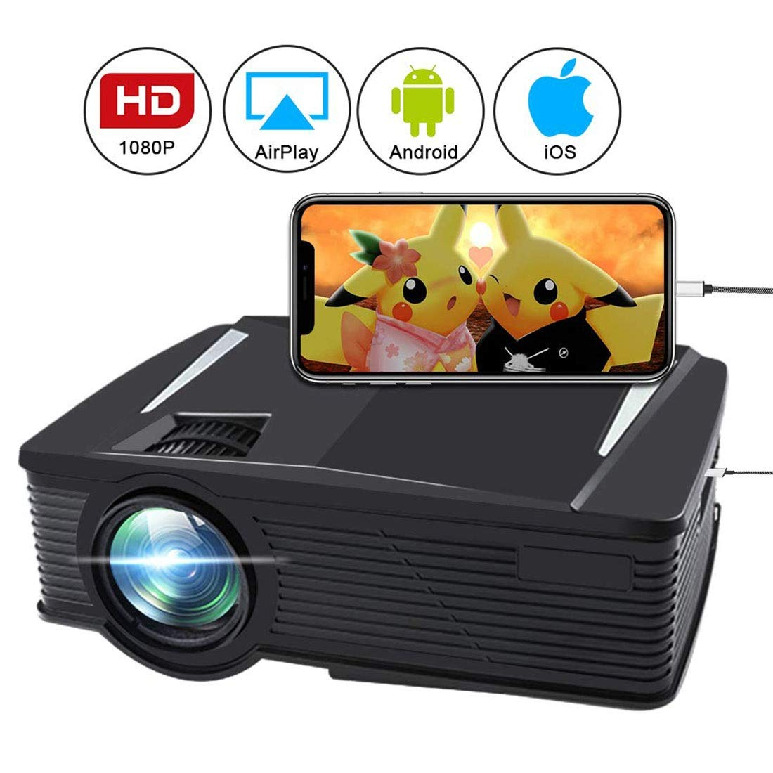 Amazon.com : Wireless Video Projector 2500 Lumen, WiFi LED ...