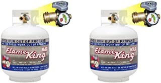 Flame King YSN230 Steel Propane Cylinder with Overflow Protection Device Valve and Built-in Gauge, 20-Pound, Pack of 2