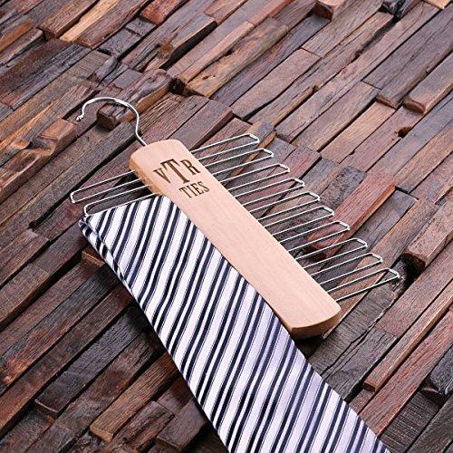 (Personalized Tie Hanger - Monogram)
