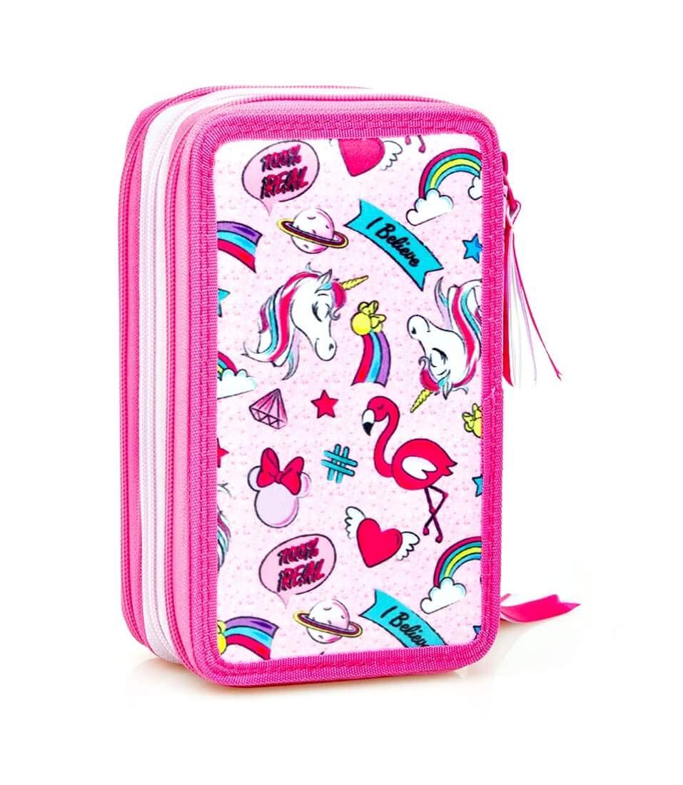 Trousse /à Crayons Licorne /Étui 44 Parties Pochette Trousse Inacio Disney Minnie Mouse XL Sac /à Crayons