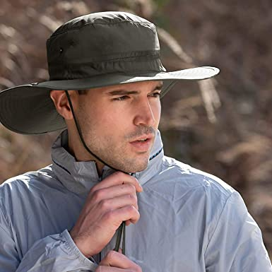Outdoor Wide Brim Sun Hat UV Protection Fishing Hat Waterproof Breathable Boonie Hat for Men and Women