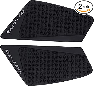 For Yamaha MT10 2016-2017 Motorcycle Black 3M Side Gas Knee Grip Tank Traction Pad Side Gas Knee Protector