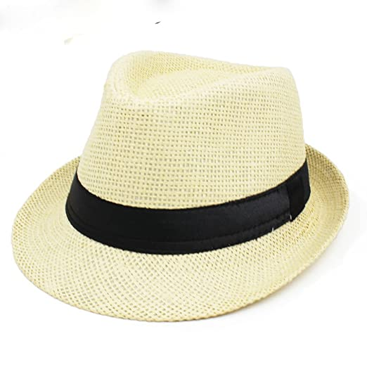 483f3577d72 Image Unavailable. Image not available for. Color  Children Fedoras Fashion  Jazz Hat Kid Bucket Panama Sun Cap for Girls Boys
