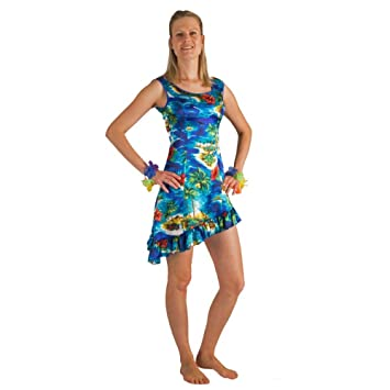 Krause & Sohn Vestido Hawaiano para Mujer Tallas S, M, L, XL,