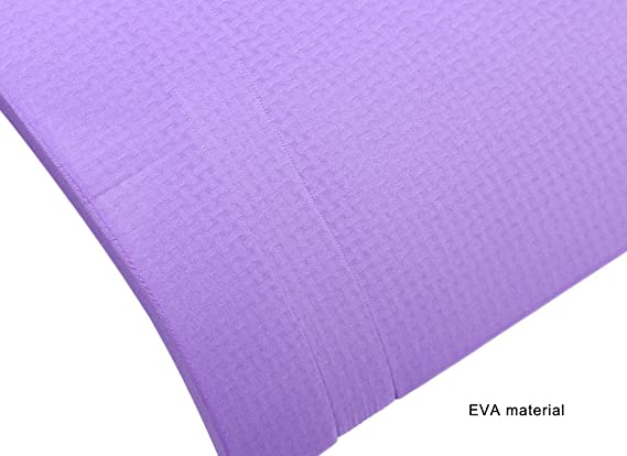 Amazon.com: (púrpura) Utilidad 3 colores 6 mm EVA Yoga ...