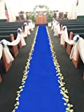 Aisle Runners Wedding Accessories Royal Blue Aisle Runner Carpet Rugs for Step and Repeat Display, Ceremony Parties and Events Indoor or Outdoor Decoration 24 Inch Wide x 15 feet Long