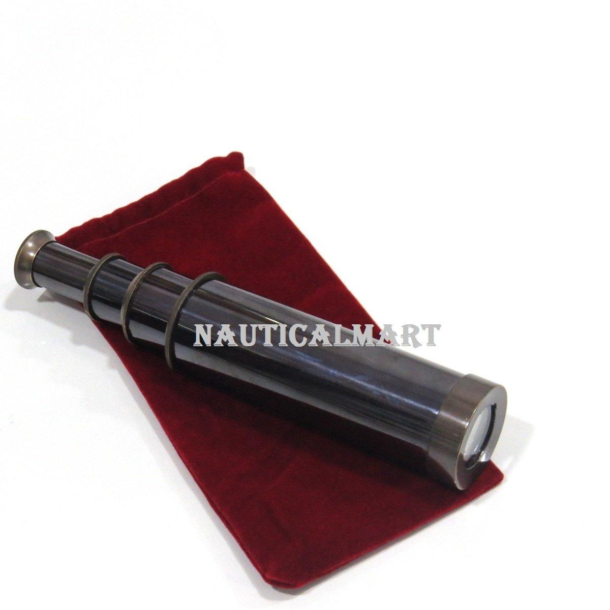Pirated Telescope Black Antique Monocular