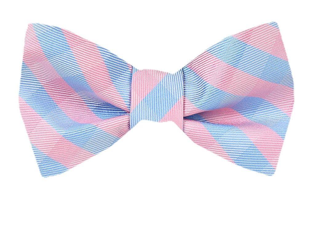 Mens Pink Silk Self Tie Bowtie Tie Yourself Bow Ties